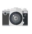 retro dslr camera isolated on white background vector image