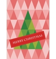 retro pattern geometric shapes with christmas vector image