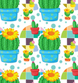 Seamless cactus vector image