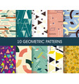 set 10 perfect patterns hipster stile vector image vector image