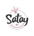 simple satay logo stamp badge food vector image vector image