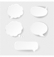 Speech bubble set transparent background