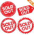 Stamp sticker sold out tag collection - - E vector image