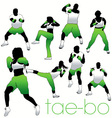 tae bo silhouettes vector image vector image