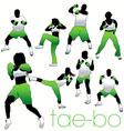 Tae bo silhouettes vector image