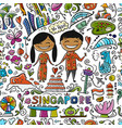 travel to singapore seamless pattern for your vector image vector image