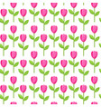 tulip pink pattern vector image vector image