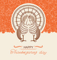 Turkey bird for Thanksgiving day card vector image vector image