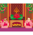two Pin Up Santa Girls vector image vector image