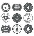 Water drop icons Tear or Oil symbols vector image vector image