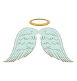 wing halo angel icon vector image vector image