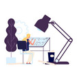 woman architect at work girl engineer vector image