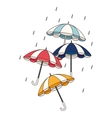set umbrellas protection isolated icon vector image