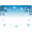 winter snowy background vector image