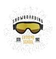 Vintage snowboarding or winter sports badge vector image