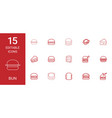 15 bun icons vector image vector image