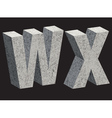 3456 WX concrette vector image vector image
