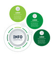 annual report 3-steps diagram eco business vector image vector image
