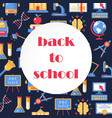 back to school colorful banner vector image vector image
