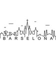 barcelona outline icon can be used for web logo vector image vector image