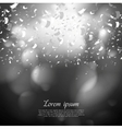 Black and white confetti background vector image vector image