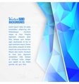 Blue triangles on white background vector image