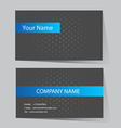 Business Card Set vector image vector image