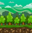cartoon forest seamless horizontal landscape vector image