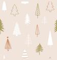 christmas season seamless pattern abstract vector image vector image