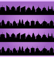 comic cityscapes seamless pattern vector image vector image