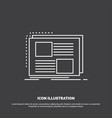 content design frame page text icon line symbol vector image