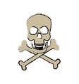 danger skull bones crossed medicine symbol vector image vector image