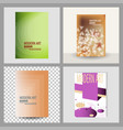 design cover book brochure layout flyer poster vector image vector image
