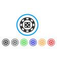 dice casino chip icon vector image