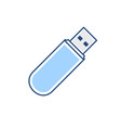 disk drive flash pendrive storage usb icon vector image