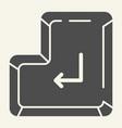 enter button solid icon enter key vector image vector image