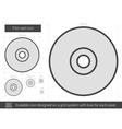 Film reel line icon vector image vector image