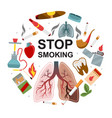 flat no smoking round concept vector image