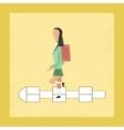flat shading style icon School girl hopscotch vector image