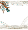 Flower ornament element on striped background vector image