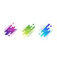 geometric dynamic badges set trendy minimal vector image