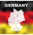 German Abstract Map vector image