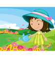girl in park vector image vector image