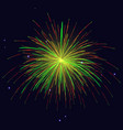 golden red green fireworks holidays background vector image vector image