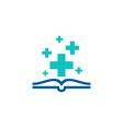health book logo icon design vector image