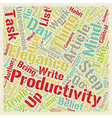 How To Triple Your Productivity In Week From Now vector image vector image