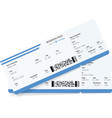 image of airline boarding pass ticket vector image vector image