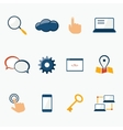 Internet marketing services icons set vector image vector image