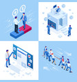 isometric business concepts businessmen and vector image