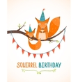 Little Squirrel and Mother Birthday Greeting Card vector image vector image